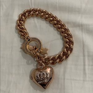 Juicy couture rose gold charm bracelet